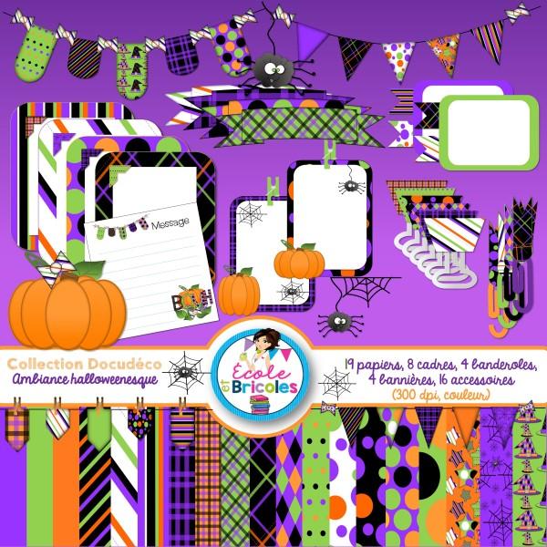 Docudéco Ambiance halloweenesque (clipart)