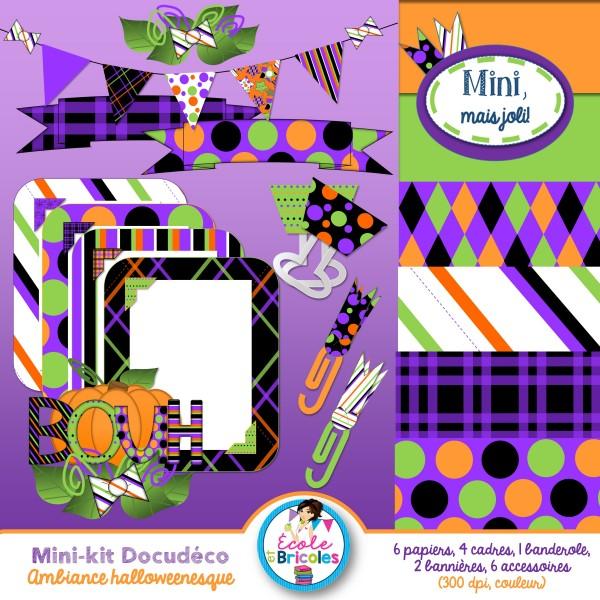 Mini-kit Docudéco Ambiance halloweenesque(clipart)