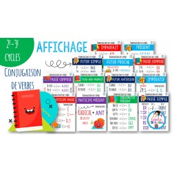 Affichage conjugaison verbes 2e-3e cycles