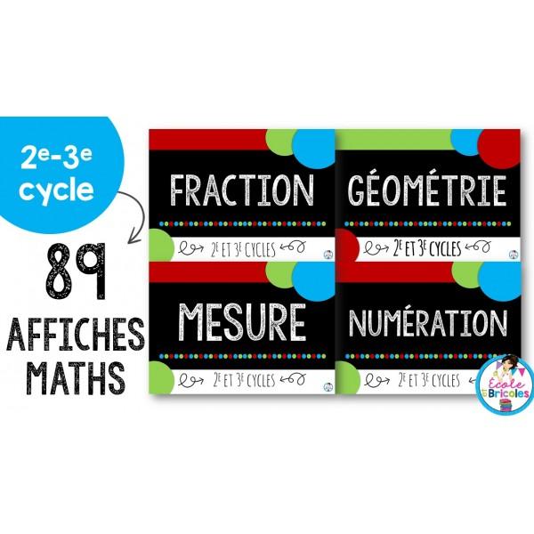 Affichage mathématique 2e et 3e cycles