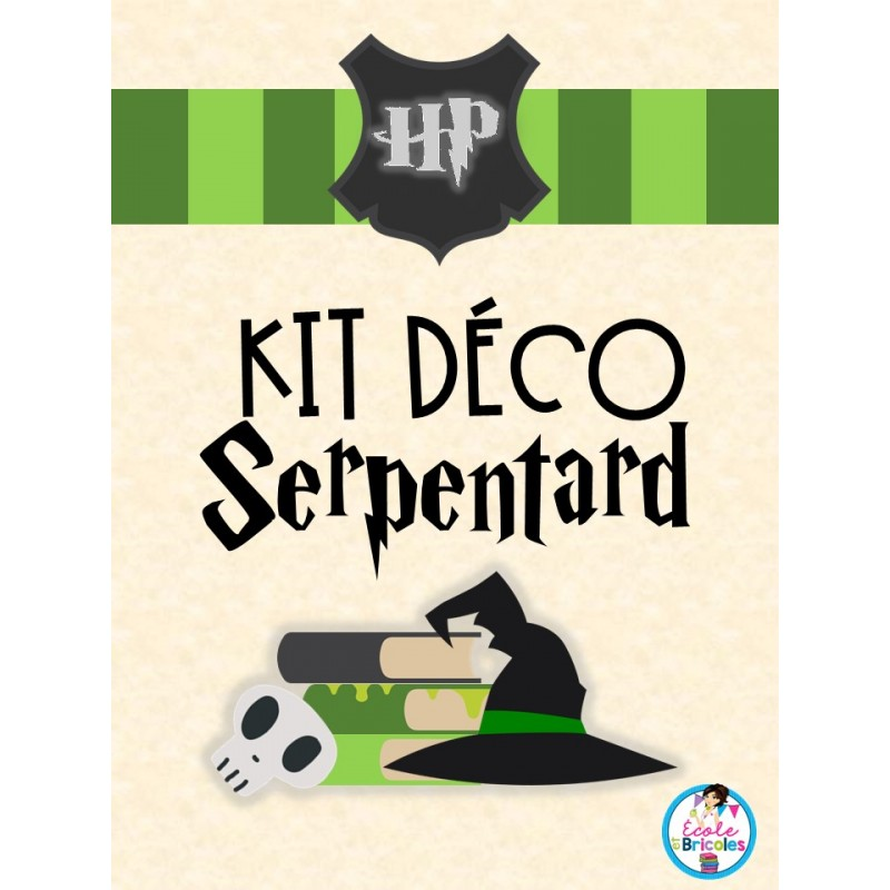Kit Deco Serpentard Harry Potter