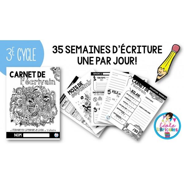 Carnet de l'écrivain (3e cycle)
