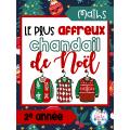 Maths-Le plus affreux chandail de Noël (2e année)
