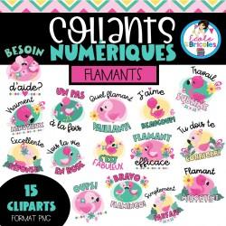 Collants numériques (Flamants)