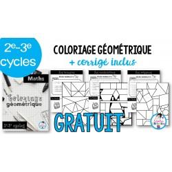 Coloriage géométrique (2e-3e cycles)