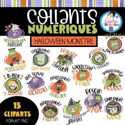 Collants numériques (Halloween monstre)
