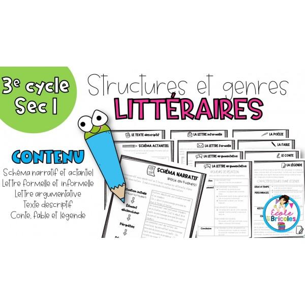 Structures et genres littéraires