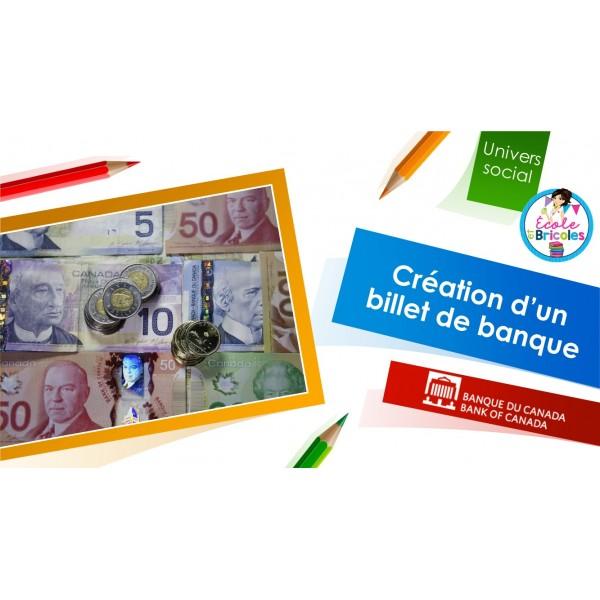 Création d'un billet de banque canadien