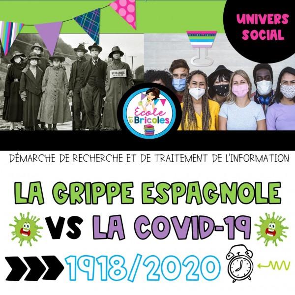 Comparons grippe espagnole vs Covid