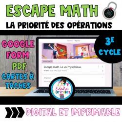 Escape math-Le vol mystérieux (PEMDAS)