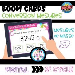 Boom Cards-Conversion mesures de contenance