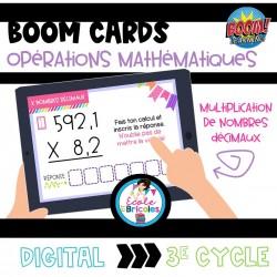 Boom Cards-Multiplication des nombres décimaux