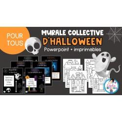 Art- Murale collective d'Halloween
