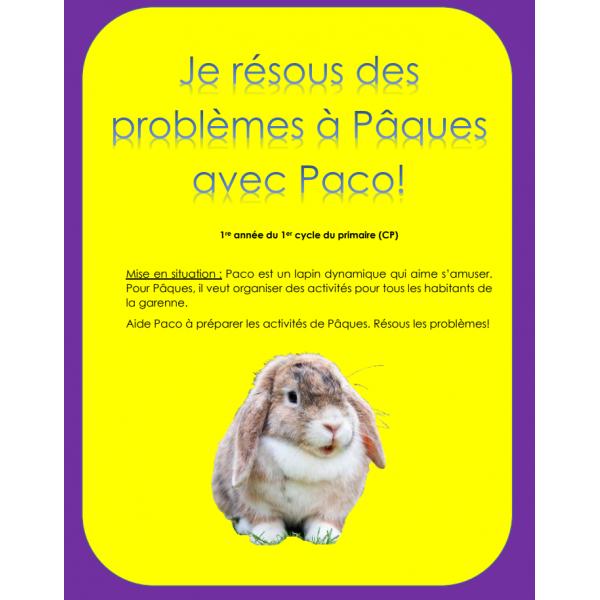 Résolutions de problèmes de Pâques - 1re année