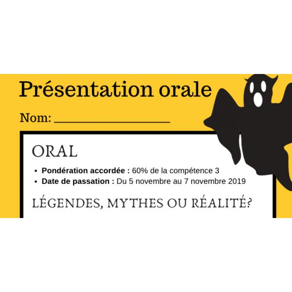 Oral mythe ou réalité