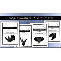 ENSEMBLE Règles orthographiques - 1re à 4e année