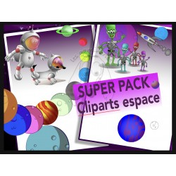 Pack cliparts espace