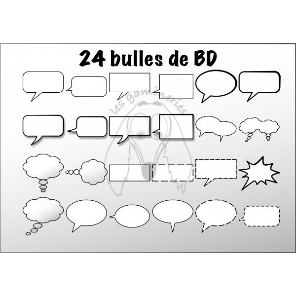 Ensemble de cliparts Bulles BD