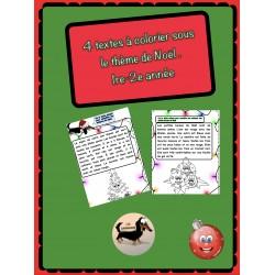 Textes à colorier de Noël.