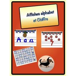 Affiches alphabet et chiffre