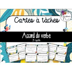 Cartes à tâches - Accord du verbe