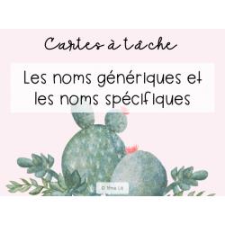 CàT - Noms génériques et spécifiques