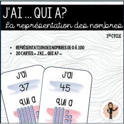 REPRÉSENTATION DES NOMBRES - J'ai ... Qui a?