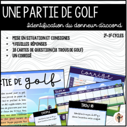 UNE PARTIE DE GOLF - Accords 2e-3e cycles
