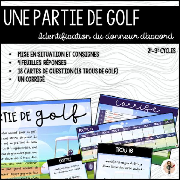 UNE PARTIE DE GOLF - Accords 2e-3e cycles