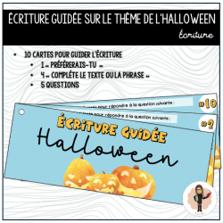 HALLOWEEN - Écriture guidée