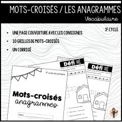 Mots-croisés - ANAGRAMMES