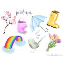 Cliparts «printemps»