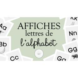 Affiches alphabet MINIMALISTES