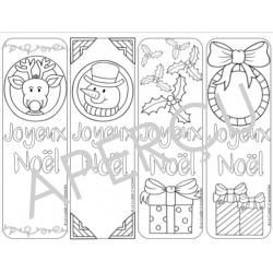 signets de Noël à colorier
