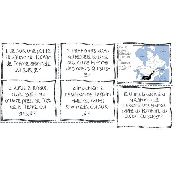 Cartes à tâche - Géographie et territoire