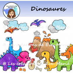 Clipart - Dinosaures