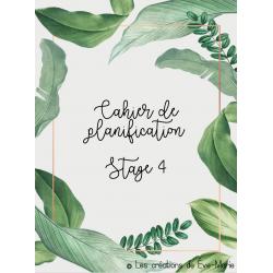 Planificateur épuré (plantes) pour le stage 4 2020