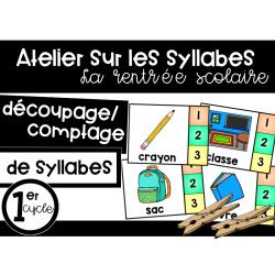 Atelier sur les syllabes - La rentrée scolaire