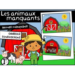 Les animaux manquants - Atelier mathématiques