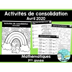 Activités de consolidation- Avril