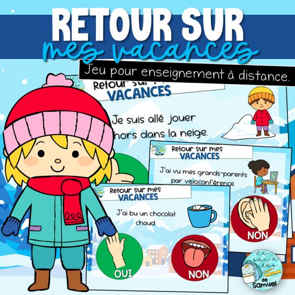 Retour sur mes vacances - Causerie interactive