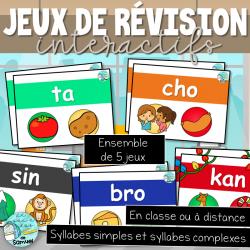 Ensemble de jeux de révision sur les syllabes
