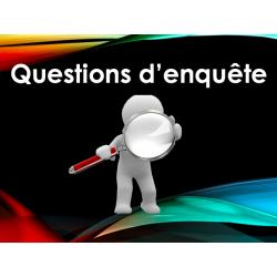 Questions d'enquête - activité