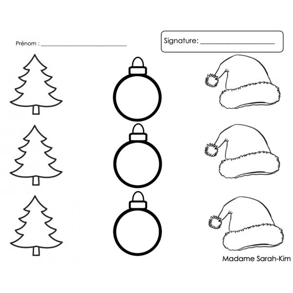 Dictée de nombres - Noël