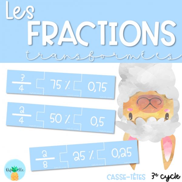Les fractions transformées