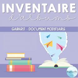 Inventaire d'albums - Gabarit