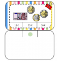 Cartes à pinces - les euros