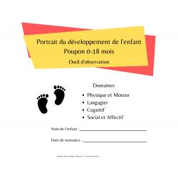 Portrait du développement de l'enfant Poupon