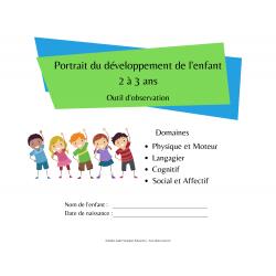 Portrait du développement de l'enfant 2 à 3 ans