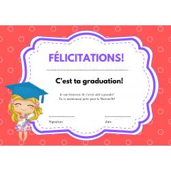 Diplômes de graduation garderie